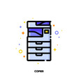 icon of copier or multifunction printer scanner vector image vector image