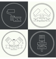 Icon set with brus vector image