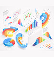 infographics isometric elements icon vector image vector image