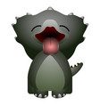 isolated cute dinosaur vector image