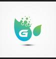 leaf design with g letter symbol design minimalist vector image vector image