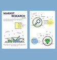 line art market research poster banner vector image vector image