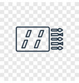 matches concept linear icon isolated on vector image