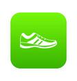 men sneakers icon digital green vector image vector image