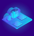 modern 3d flat design isometric for cloud service vector image