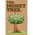 Money growing on a tree vector image vector image