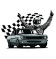 monochromatic a race car vector image