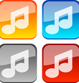 Music buttons vector image vector image