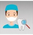 nurse tooth search medical vector image