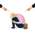 parental pressure on teenager bullying vector image