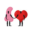 penis and heart friends friendship love and sex vector image vector image