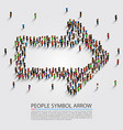 people arrow isometric arrow group sign vector image vector image