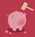 Piggy bank saving money vector image vector image
