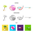 pool and swimming logo vector image vector image