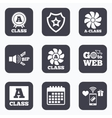 Premium level award icons A-class ventilation vector image vector image