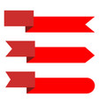 ribbon banner on white background set red tags vector image