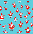 santa claus toy with raised hand seamless pattern vector image
