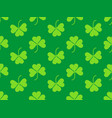seamless pattern with clover leaves st patricks vector image vector image