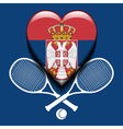 Serbian tennis vector image