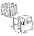 set forklift truck vector image