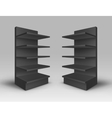 Set of Exhibition Trade Stands Racks with Shelves vector image vector image