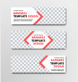 set of horizontal white web banners with diagonal vector image vector image