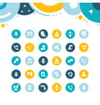 set simple icons business consulting vector image