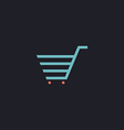 shopping cart computer symbol vector image vector image