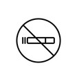 smoking is forbidden icon isolated contour vector image vector image