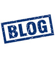 square grunge blue blog stamp vector image vector image