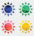 sun icon Abstract Triangle vector image vector image