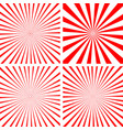 sunburst set red vector image