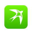 swallow icon green vector image