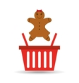sweet cookie basket vector image vector image