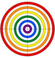 target for shooting colors lgbt flag vector image