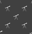 Telescope icon sign Seamless pattern on a gray vector image vector image