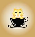 tiger logo coffee vector image