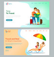 time to travel and warm countries relaxation set vector image vector image