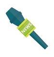TV news microphone with blank box isolated on a vector image vector image