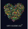 Valentines day love heart shape nature color vector image vector image