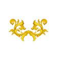 vintage baroque pattern golden floral ornament in vector image vector image