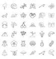 way of life icons set outline style vector image vector image