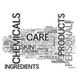 what s in your personal care items text word vector image vector image