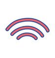 wifi digital symbol to digital information vector image vector image
