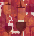 Wine and drink seamless pattern background vector image vector image