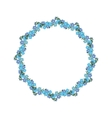 Wreath of forget-me-not template frame vector image