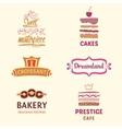 Set of patterns logos cakes Logo vector image