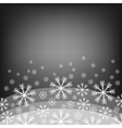 Abstract background with bokeh Bright snowflake vector image vector image