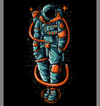 astronaut wearing streetwear sweater vector image