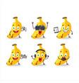banana cartoon character are playing games vector image vector image